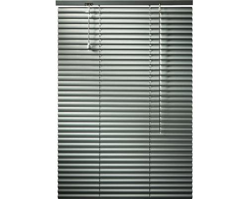Horizontálna žalúzia hliníková strieborná 120x160 cm