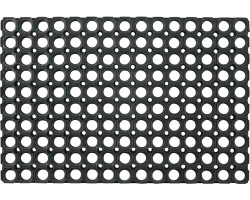Gumová rohožka Domino voštinová čierna 80x120 cm