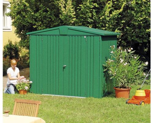 Plechový záhradný domček Biohort Europa 3 veľ. 224 x 152 cm zelený
