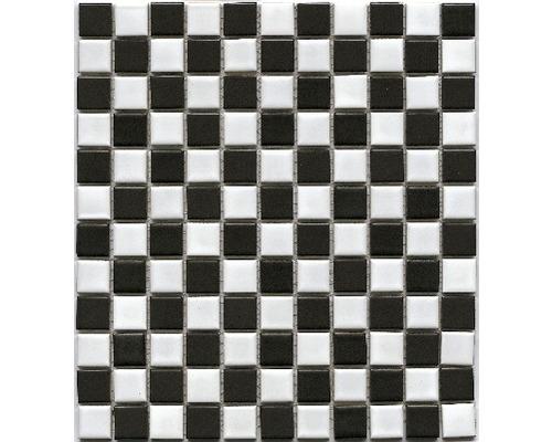 Keramická mozaika BM 148 čierna/biela 30,2 x 33 cm