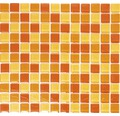 Sklenená mozaika XCM 8523 30,5x32,5 cm žltá/oranžová