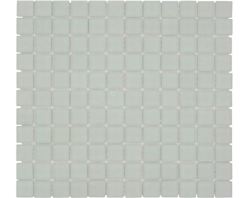 Sklenená mozaika XCM 8045 30,5x32,5 cm biela
