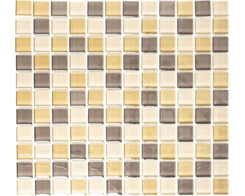 Sklenená mozaika XCM 8555 30,5x32,5 cm hnedá