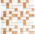 Keramická mozaika BS 119 biela/béžová/terakota 31,5 x 32 cm