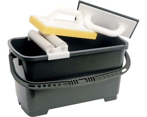 Súprava na umývanie dlažby Kaufmann Profi vrátane vedra, umývacieho hladítka na dlažbu, penového hladidla a pásky