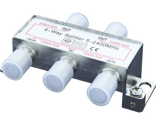 SAT rozbočka 4x, 5-2400 MHz, digital