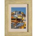 Plastový fotorámik s optikou dreva Marbella hnedý 13x18 cm