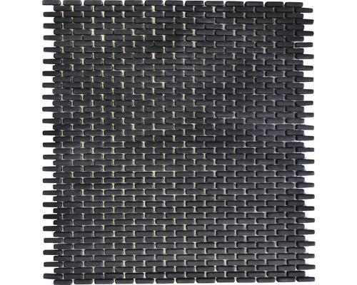 Sklenená mozaika CUBA B21B ČIERNA 27,5x29,7 cm