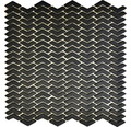 Sklenená mozaika CUBA HB31B ČIERNA 29x29,5 cm