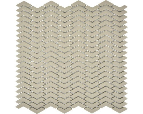 Sklenená mozaika CUBA HB33C KRÉMOVÁ 29x29,5 cm
