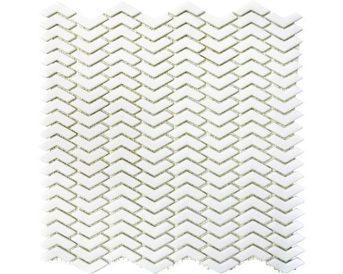 Sklenená mozaika CUBA HB37W BIELA 29x29,5 cm