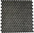 Sklenená mozaika CUBA HX11B ČIERNA 29x29,5 cm