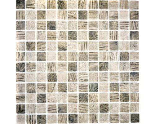 Sklenená mozaika CW 324 ŠEDO BÉŽOVÁ 30x30 cm