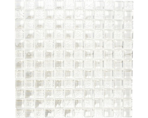 Sklenená mozaika XCM 8LU90 BIELA 29,8x29,8 cm
