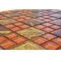 Sklenená mozaika XCM 8SRO ORANŽOVÁ 30x30 cm
