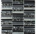 Sklenená mozaika XCM ST NB ČIERNA 29,8x30,4 cm