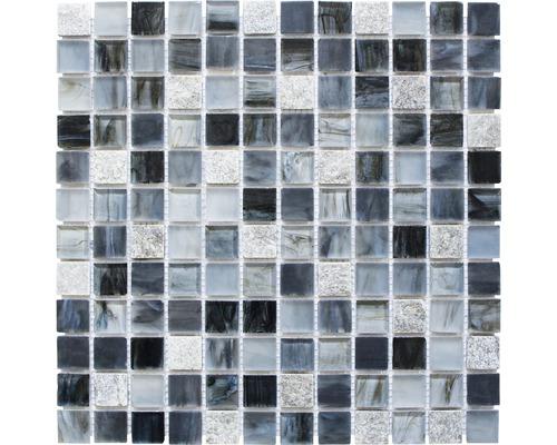 Mozaika XCR 2507 MIX SIVOČIERNA 30,2x30,2 cm