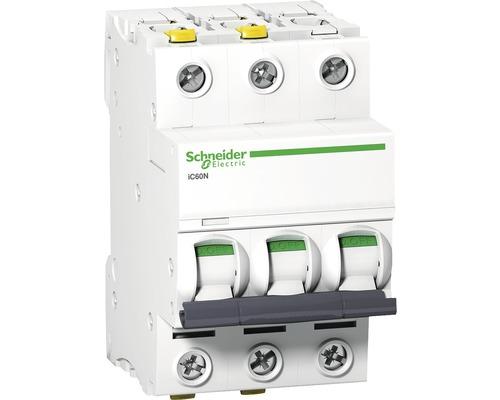 Istič Schneider Electric 3P, B, 20A, iC60N, 6KA