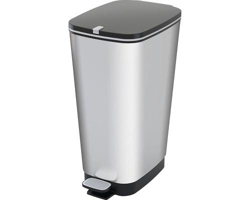 Odpadkový kôš KIS Chic bin 1788 strieborný 50 l, veľkosť L
