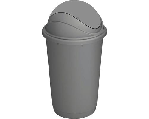 Odpadkový kôš KIS Pivot 0410 sivý 60 l