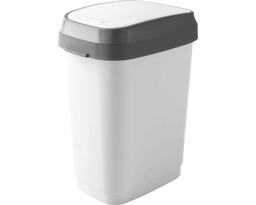 Odpadkový kôš KIS Dual Swing bin 0307 sivý 25 l, veľkosť M