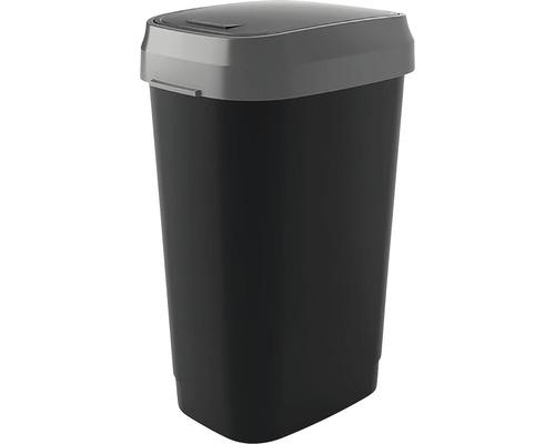 Odpadkový kôš KIS Dual Swing bin 0306 antracit 50 l, veľkosť L