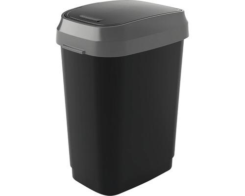 Odpadkový kôš KIS Dual Swing bin 0306 antracit 25 l, veľkosť M