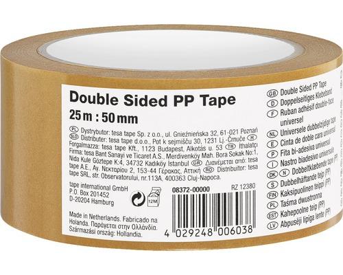 Obojstranná lepiaca páska 50 mm x 25 m, priehľadná