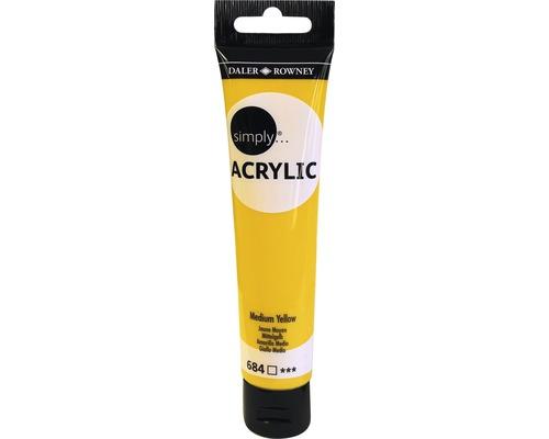 Akrylová farba SIMPLY stredne žltá 75 ml