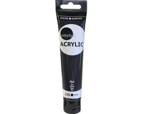 Akrylová farba SIMPLY čierna 75 ml