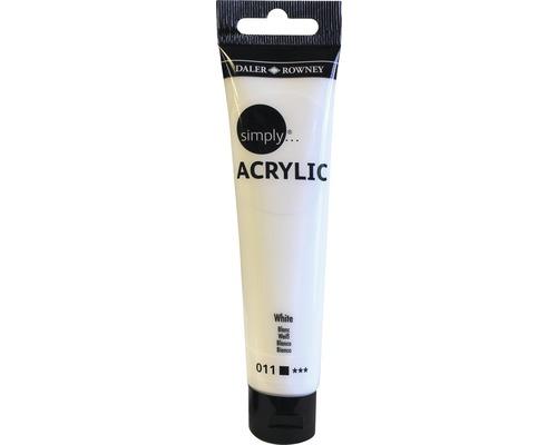 Akrylová farba SIMPLY biela 75 ml