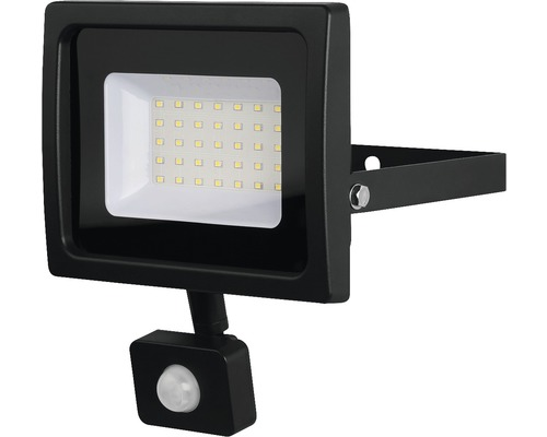 LED reflektor SMD so senzorom IP44 30W 2700lm 4000K šedý