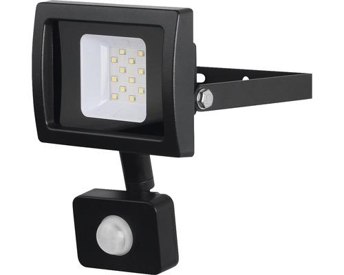 LED reflektor SMD so senzorom IP44 10W 900lm 4000K šedý