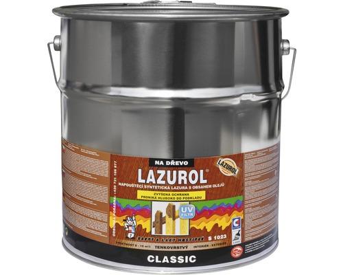 Univerzálna lazúra na drevo Lazurol Classic S1023 Farby a laky Hostivař bezfarebná 9 l