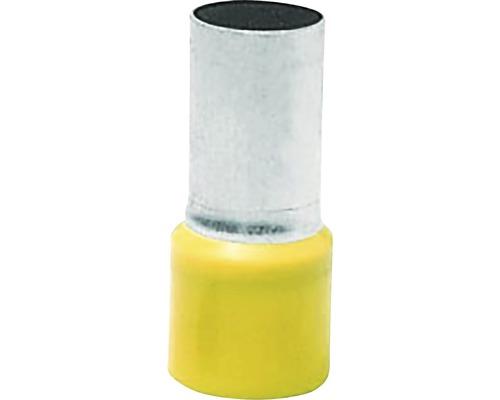 Dutinka izolovaná 1 mm², dĺžka 8 mm, 20ks žltá