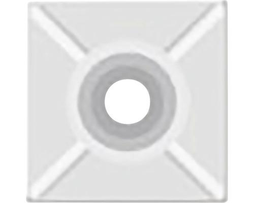 SAPI príchytka sťahovacieho pásiku biela 27x27 mm, 25 ks