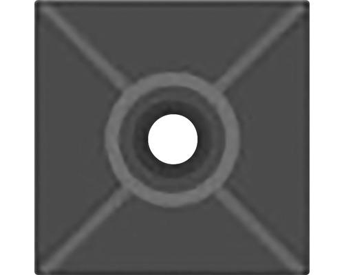SAPI príchytka sťahovacieho pásiku čierna 27x27 mm, 25 ks