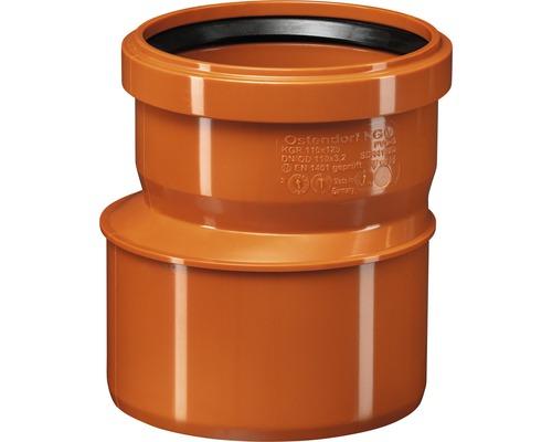 Redukcia pre kanalizačné rúry KG Ø 125/110 mm