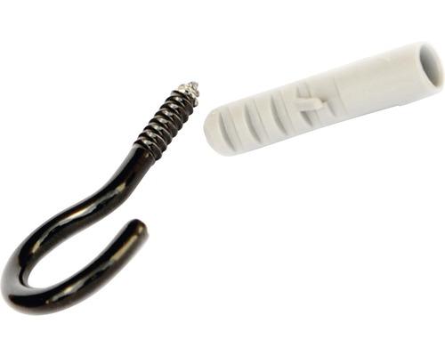 Háčik na luster s hmoždinkou čierny 40 mm