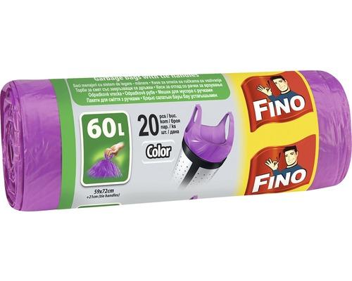 Vrecia na odpadky FINO fialové 20x60 l