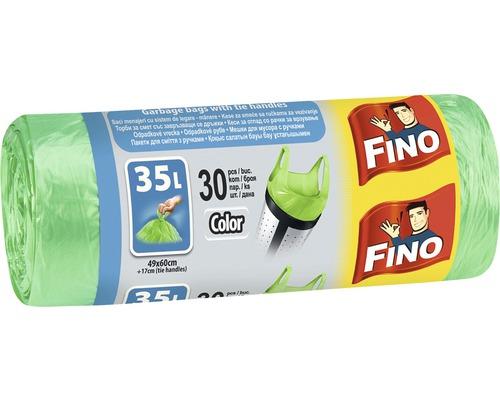 Vrecia na odpadky FINO zelené 30x35 l