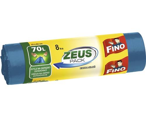Vrecia na odpadky FINO Zeus zaťahovacie modré 8x70 l