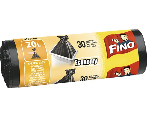 Vrecia na odpadky FINO čierne 30x20 l