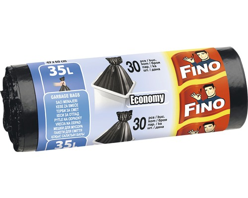 Vrecia na odpadky FINO čierne 30x35 l