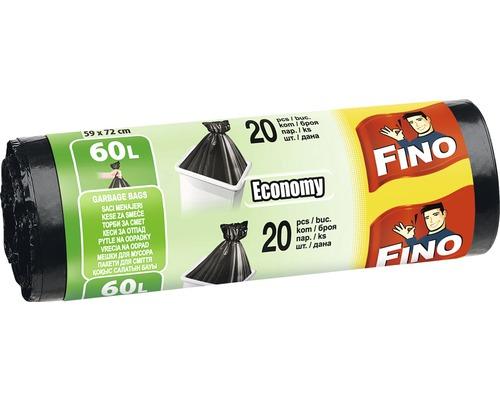 Vrecia na odpadky FINO čierne 20x60 l