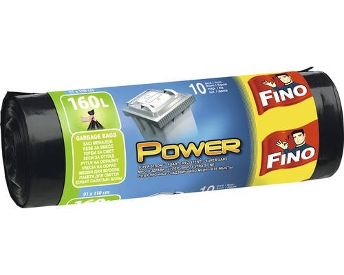Vrecia na odpadky FINO LDPE čierne 10x160 l