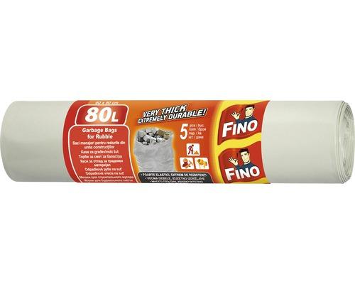 Vrecia na suť FINO sivé 5x80 l
