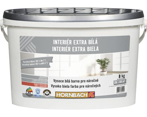 Farba na stenu Hornbach Interiér Extra Biela 8 kg