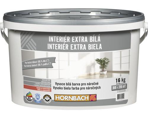 Farba na stenu Hornbach Interiér Extra Biela 16 kg