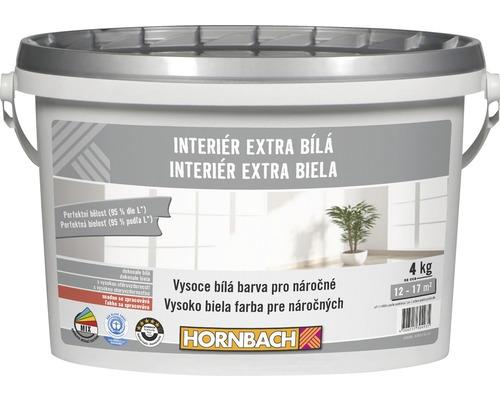 Farba na stenu Hornbach Interiér Extra Biela 4 kg